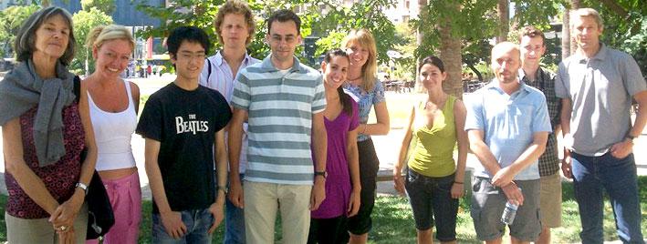 Students enjoying the Athens sunshine