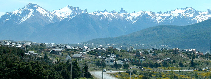 View of mountains in Bariloche