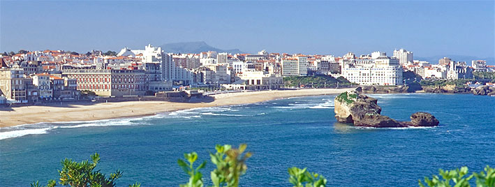 View over beach in Biarritz