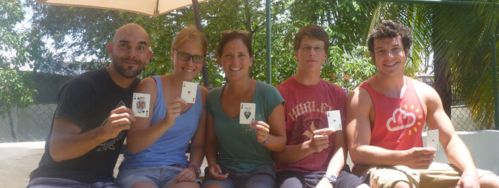 Playing cards in Bocas del Toro