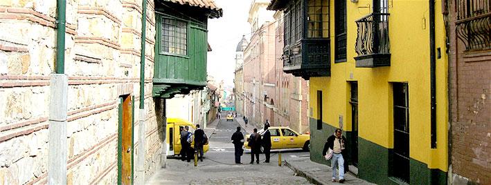 Old street in Bogota