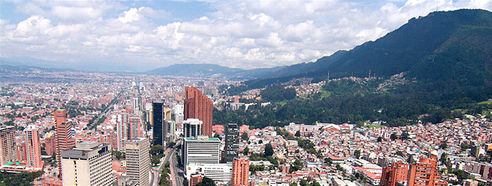 View over Bogota city
