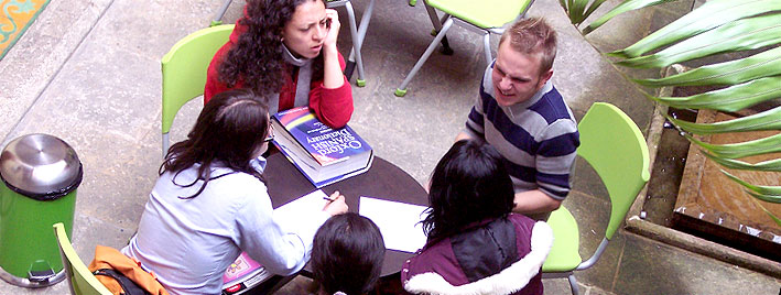 Outdoor Spanish lesson in Bogota