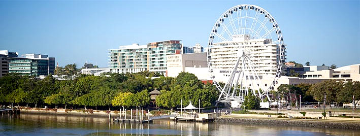 Wheel of Brisbane by the water