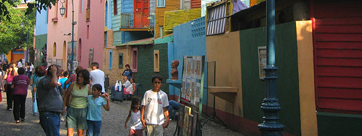 Colourful street in Buenos Aires