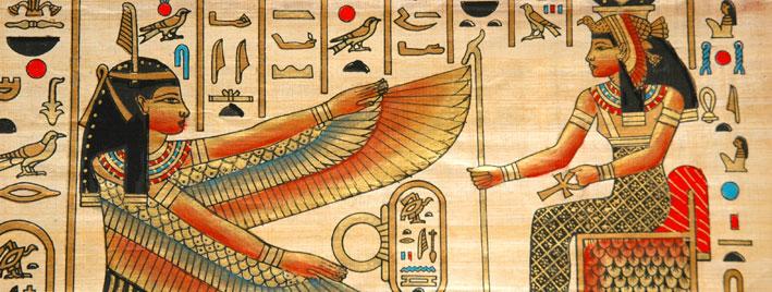 Vibrant Egyptian papyrus