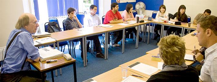 English lesson in Cambridge