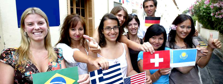 Students in Cannes learning French