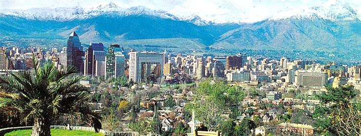 View over Santiago de Chile