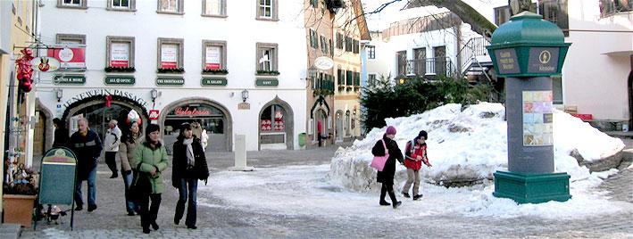 Kitzbuhel town centre snow