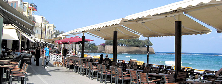Waterfront café, Crete
