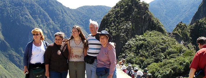 Cusco Spanish students at Machu Picchu