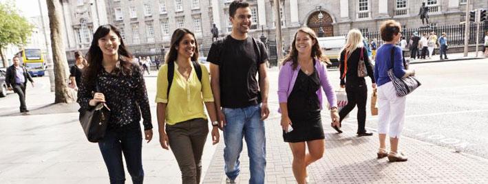 Walking around Dublin