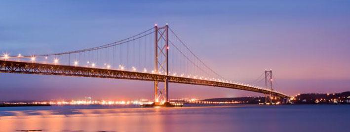 Forth Road Bridge at dusk