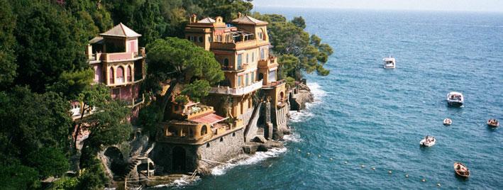 Italian Riviera coastline near Genoa