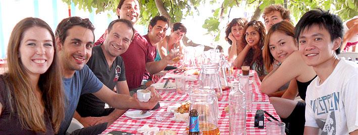 Spanish meal in Granada