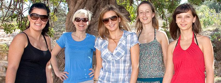 Students in the Ibiza sunshine
