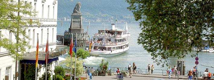 Crossing Lake Constance, Lindau
