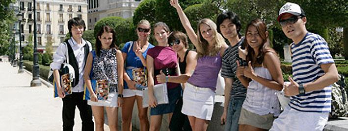 Students exploring Madrid