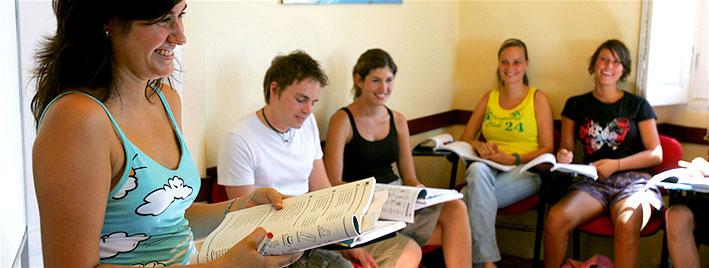 Classroom, Malaga by the beach school