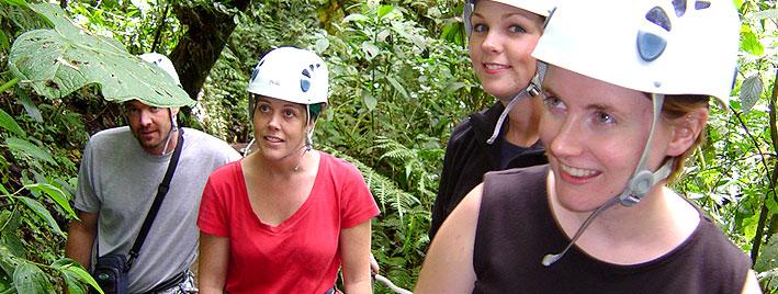 Forest zip line, Monteverde