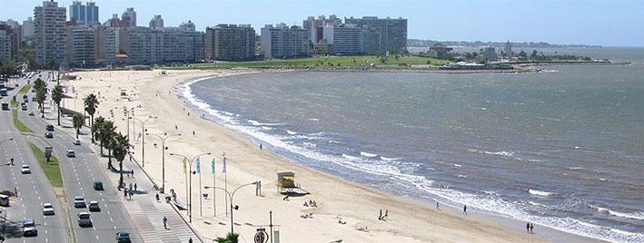 Beach in Montevideo, Uruguay