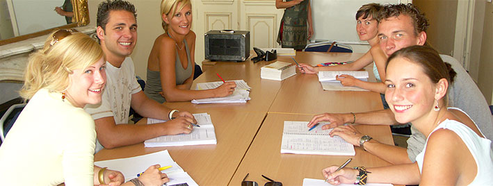 Students in class, Montpellier