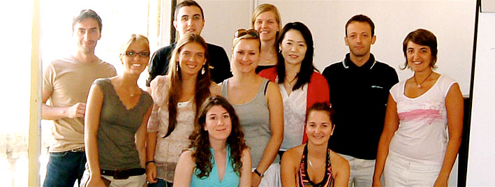 Group learning French in Montpellier