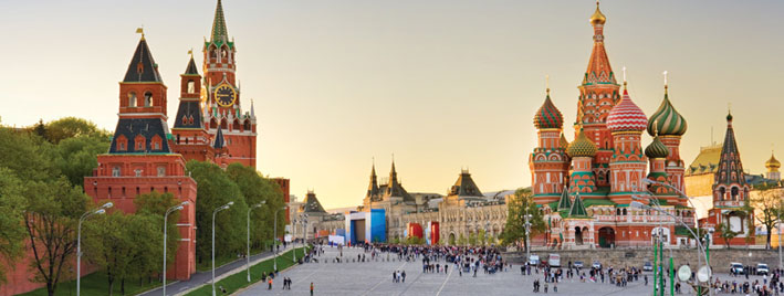 St. Basil, Red Square and Kremlin, Moscow