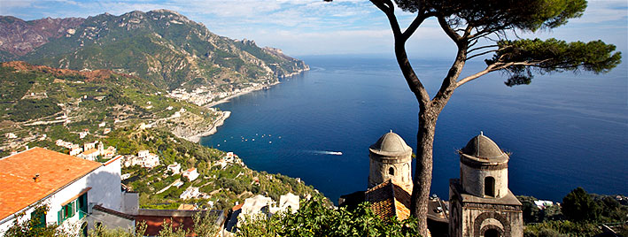 Ravello, Almalfi coast near Naples