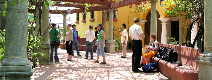 Spanish school in Oaxaca after class
