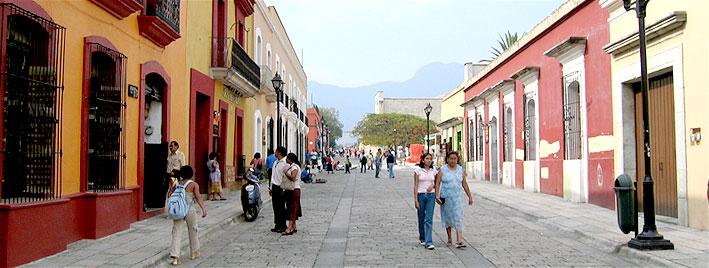 High street in Oaxaca City, Mexico