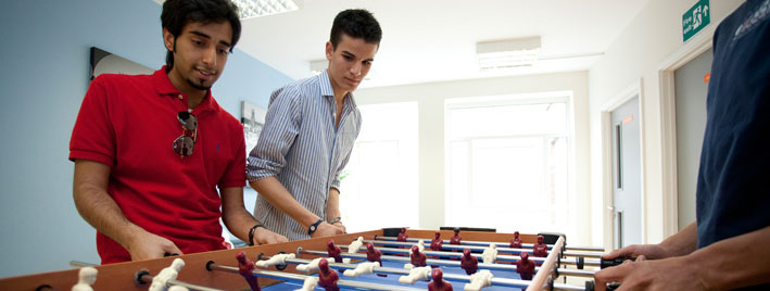 Table football in Oxford English school