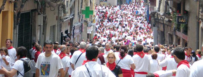 Running of the bulls, San Fermin, Pamplona