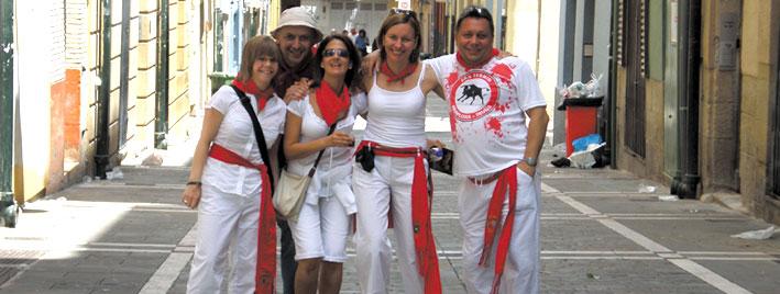 San Fermin friends, Pamplona