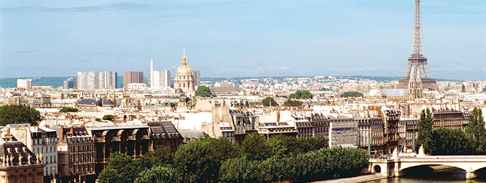 View over Paris with Eiffel Tower