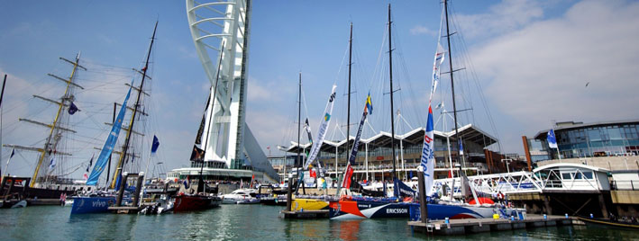 Sail boats in Portsmouth marina