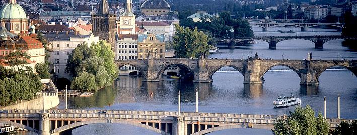 View over Prague, Charles Bridge