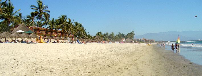 Beautiful beach in Puerto Vallarta