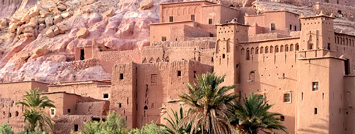 Old Arabic fort building in Morocco