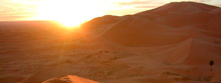 Desert sun near Rabat