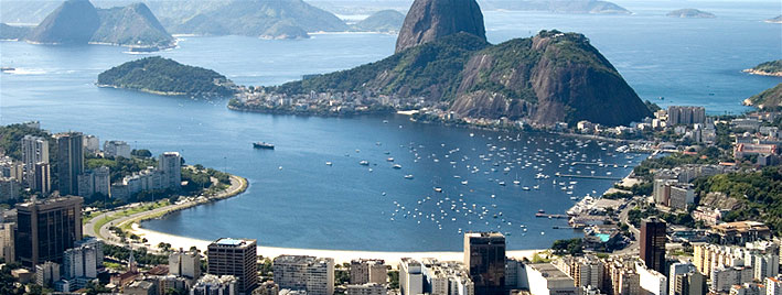 Aerial view of Guanabara Bay, Rio de Janeiro