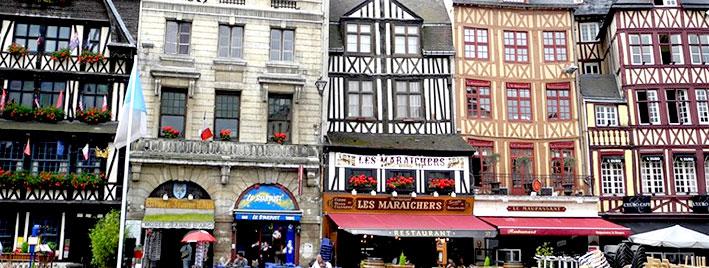 Rouen town centre, France