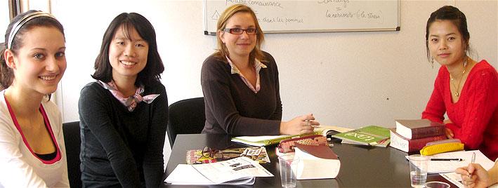 French class in Rouen