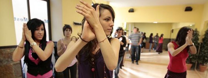 Dance class in Salamanca