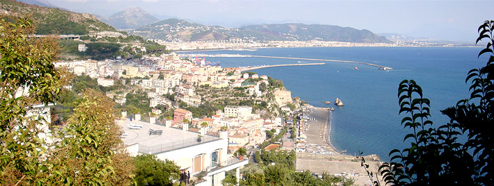 View over Salerno, Italy