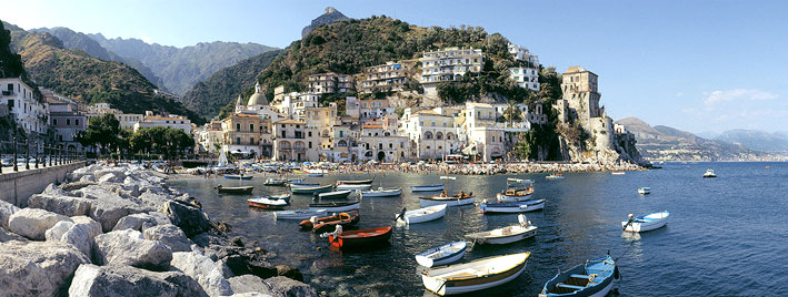 Salerno lies on the beautiful Amalfi coast