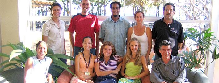 Spanish class, Samara Beach