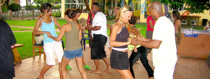 Dance lesson in Samara Beach