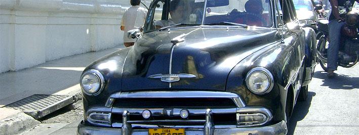 Classic black Chevrolet Santiago de Cuba